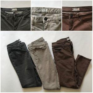 Free People 3 Pair Lot Skinny Jeans Distressed 26